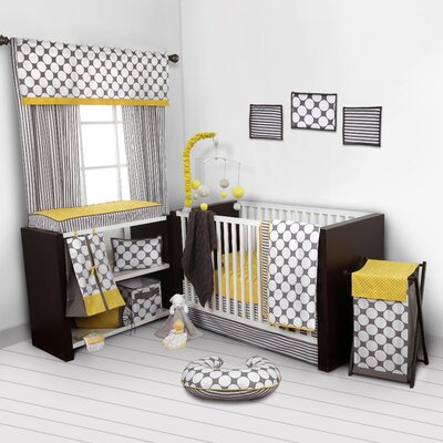 Dots/Pin Stripes 9 Piece Crib Bedding Set SDGB10CSN