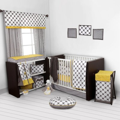 Dots/Pin Stripes 10 Piece Crib Bedding Set SDGB10CS