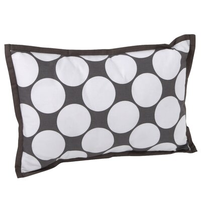 Dots/Pin Stripes Decorative Cotton Throw Pillow Color: Grey/Yellow