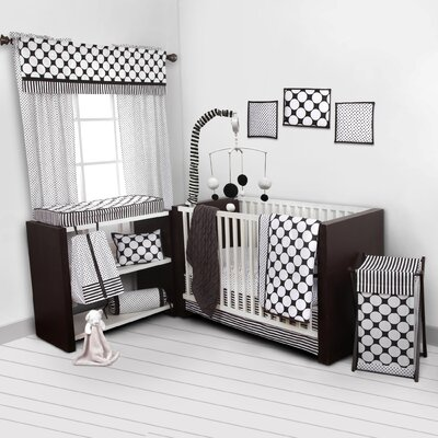 Dots/Pin Stripes 9 Piece Crib Bedding Set SDBW10CSN