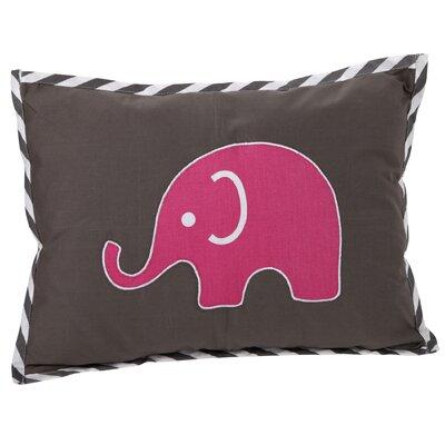 Yasmeen Decorative Cotton Boudoir/Breakfast Pillow Color: Pink/Grey
