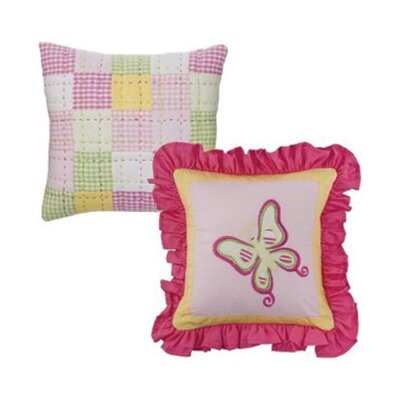 2 Piece Girls Stripes and Plaids Decorative Cotton Throw Pillow Set
