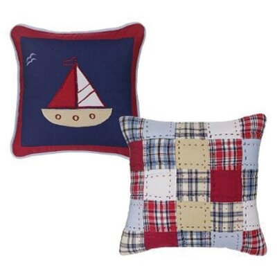 2 Piece Boys Stripes and Plaids Decorative Cotton Throw Pillow Set