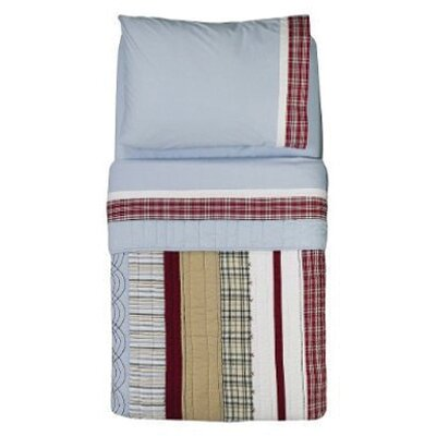 Bacati Boys Stripes and Plaids 4 Piece Toddler Bedding Set BIPSB4TB