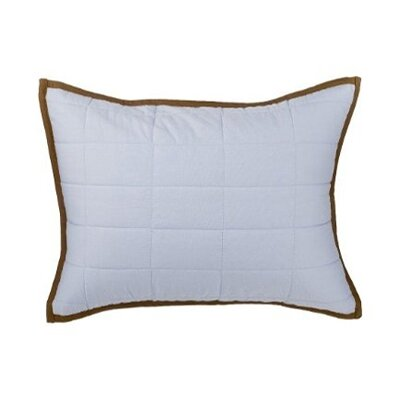 Metro Quilted Cotton Boudoir/Breakfast Pillow Color: Blue and Chocolate
