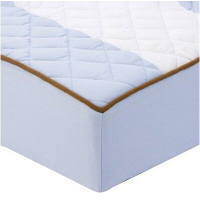 Bacati Metro Quilted Changing Pad Cover in Blue and Chocolate at Sears.com