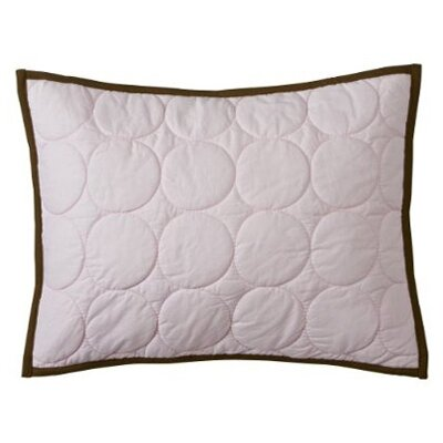 Metro Quilted Cotton Boudoir/Breakfast Pillow Color: Pink and Chocolate