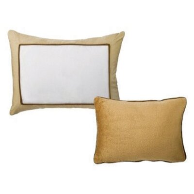 2 Piece Metro Decorative Cotton Throw Pillow Set Color: Khaki and Chocolate
