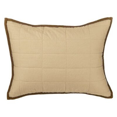 Metro Quilted Cotton Boudoir/Breakfast Pillow Color: Khaki and Chocolate