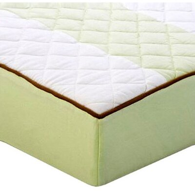 Bacati Metro Quilted Changing Pad Cover in Lime and Chocolate at Sears.com