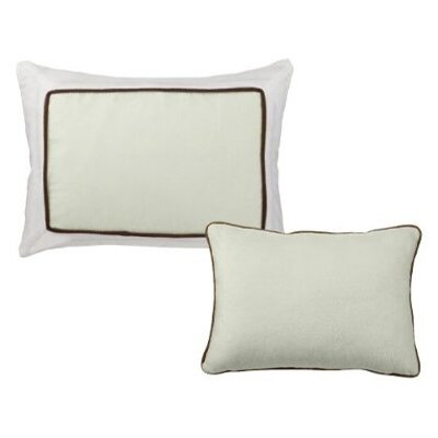 2 Piece Metro Decorative Cotton Throw Pillow Set Color: Lime and Chocolate