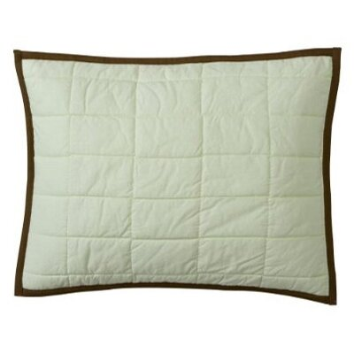 Metro Quilted Cotton Boudoir/Breakfast Pillow Color: Lime and Chocolate