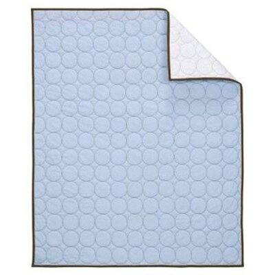 Quilted Circles Quilt Color: Blue