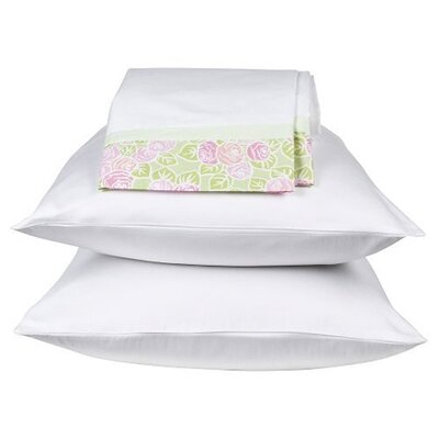 Flower Basket Standard Pillow Case in Pink and Green