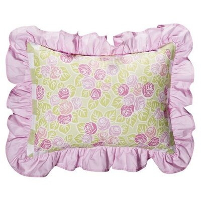 Flower Basket Decorative Cotton Boudoir/Breakfast Pillow