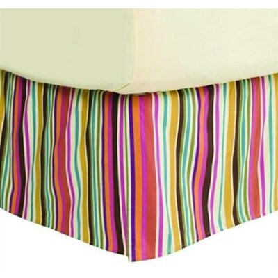 Dots and Stripes Spice Bed Skirt Size: Queen