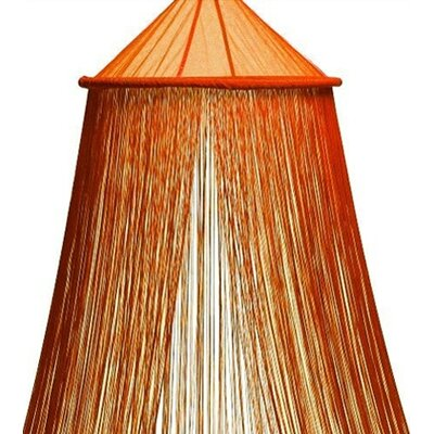 String Bed Canopy Color: Orange