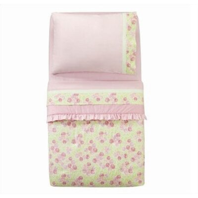 Flower Basket Pink and Green Toddler Bedding Collection
