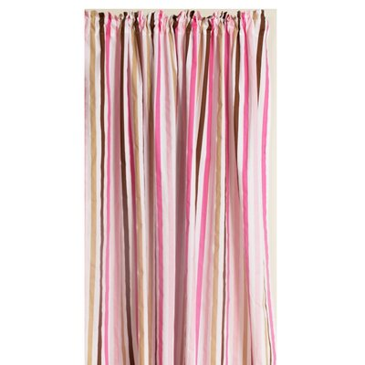 Bacati Mod Stripes Cotton Rod Pocket Curtain Single Panel at Sears.com