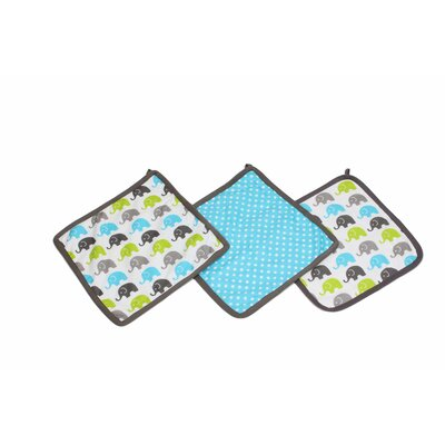 Yasmeen Wash Cloth Color: Aqua/Lime/Grey