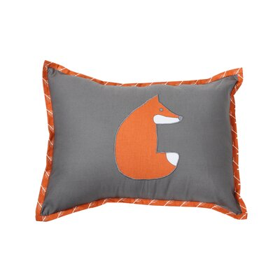 Clay Fox Cotton Throw Pillow