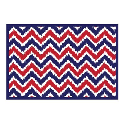 Mix N Match Navy / Red Area Rug