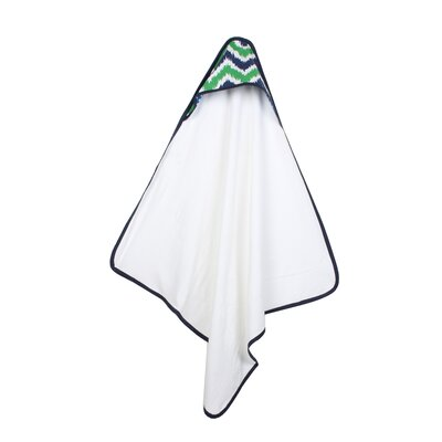Mix N Match Hooded Bath Towel Color: Blue / Green