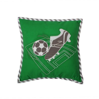 Soccerball Cotton Throw Pillow