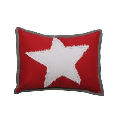 Star Dec Cotton Lumbar Pillow Color: Red