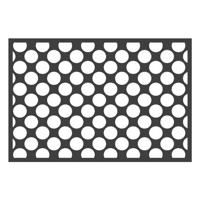 Dots/Pin Stripes Black/White Area Rug