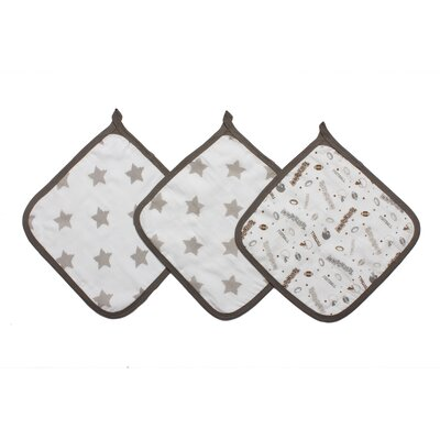 Football 3 Piece Muslin Wash Cloth Set