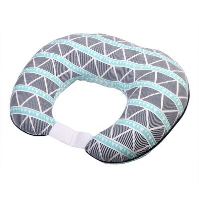 Liam Aztec Large Triangles Muslin Nursing 100% Cotton Pillow Color: Aqua/Navy