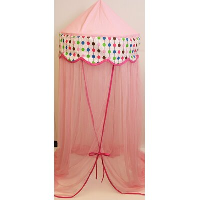 Bainter Bed Canopy Color: Pink
