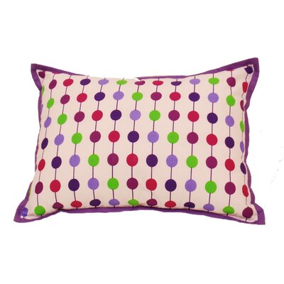 Botanical Sanctuary String Decorative Cotton Boudoir/Breakfast Pillow Color: Purple