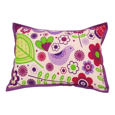 Botanical Sanctuary Decorative Cotton Throw Pillow Color: Purple