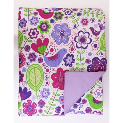Botanical Sanctuary Comforter Set Size: Twin, Color: Purple