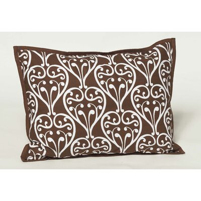 Damask Decorative Cotton Throw Pillow Color: Brown