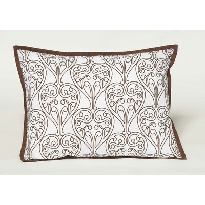 Damask Decorative Cotton Throw Pillow Color: White