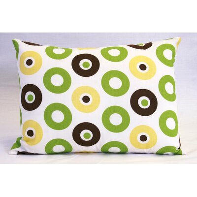 Mod Dots and Stripes Cotton Boudoir/Breakfast Pillow Color: Green / Chocolate
