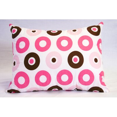 Mod Dots and Stripes Cotton Boudoir/Breakfast Pillow Color: Pink / Chocolate