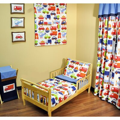Bacati Transporation 4 Piece Toddler Bedding Set BITM4TB