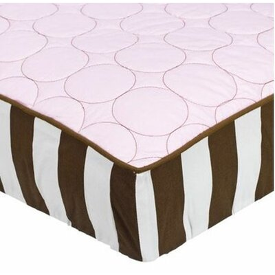 Quilted Circles Changing Pad Cover in Pink and Chocolate BIODPBCPC