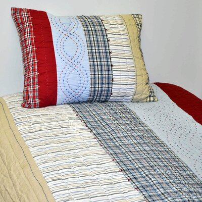 Boys Stripes and Plaids Quilt Size: Full/queen