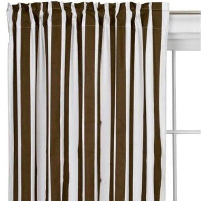 Bacati Stripes Cotton Rod Pocket Curtain Single Panel at Sears.com