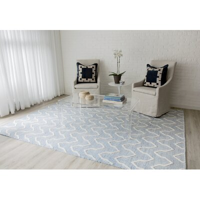Langdon Prince Hand-Woven Wool Blue Area Rug Rug Size: Rectangle 76 x 96