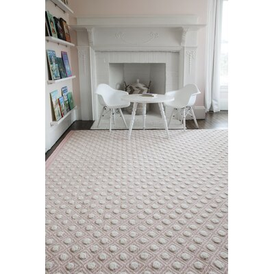 Langdon Windsor Hand-Woven Wool Pink Area Rug Rug Size: Rectangle 76 x 96