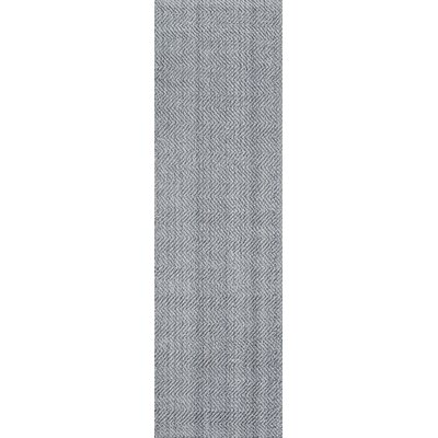 Ledgebrook Washington Hand-Woven Wool Grey Area Rug Rug Size: Runner 23 x 8