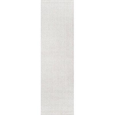 Ledgebrook Washington Hand-Woven Wool Ivory Area Rug Rug Size: Runner 23 x 8