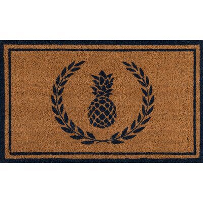 Park Hand Woven Doormat Color: Navy