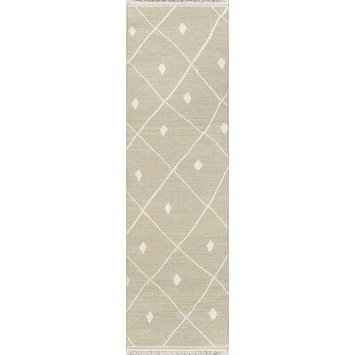 Thompson Appleton Hand-Woven Wool Sage Area Rug Rug Size: Runner 23 x 8